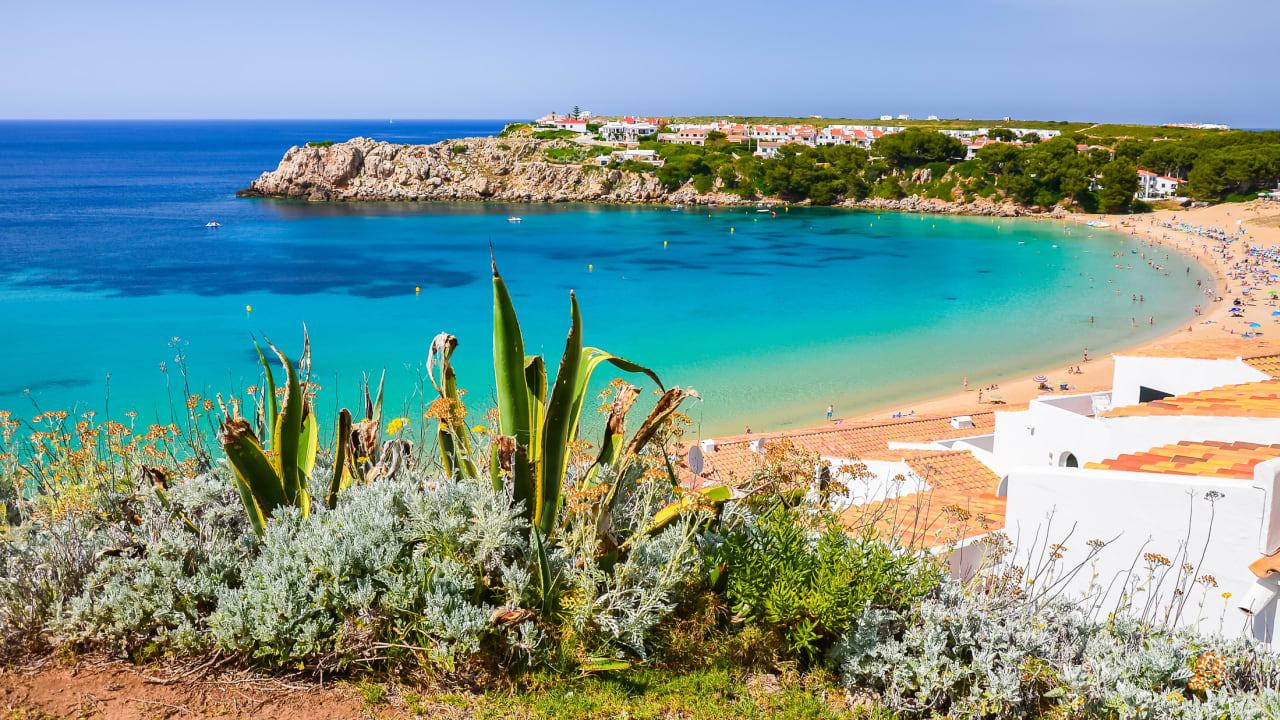 Strand Arenal d'en Castell, Menorca, Spanien