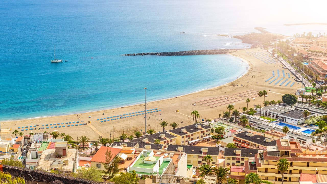 Strand Los Cristianos, Teneriffa, Spanien