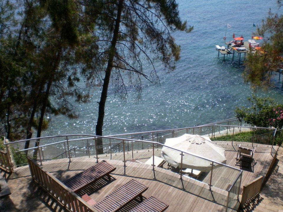 Die Sonnenplätze zur Bucht hin Hotel Alara Star