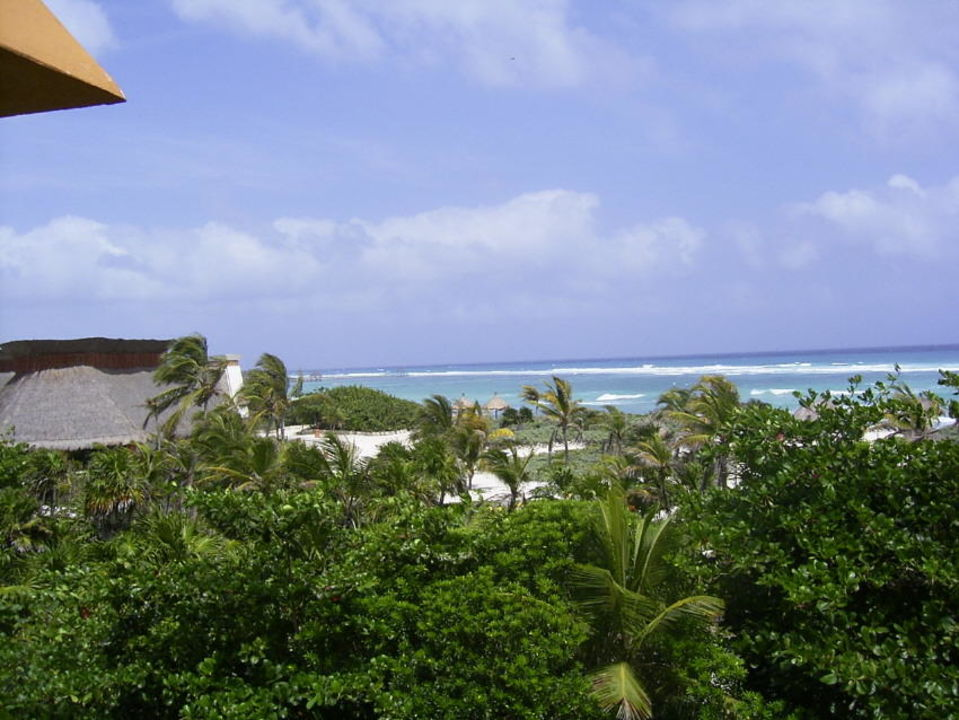 Aussicht vom Zimmer in 2. Stock im Bungalow 35 Grand Bahia Principe Tulum