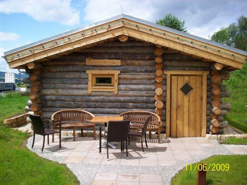 bild au ensauna finnische sauna 90 zu fair resort. Black Bedroom Furniture Sets. Home Design Ideas