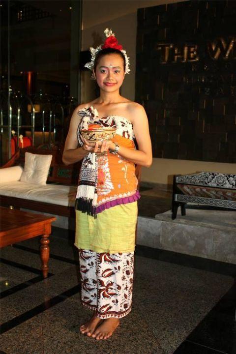 Hoteleingang - so hübsch wurde man begrüßt The Westin Resort Nusa Dua, Bali