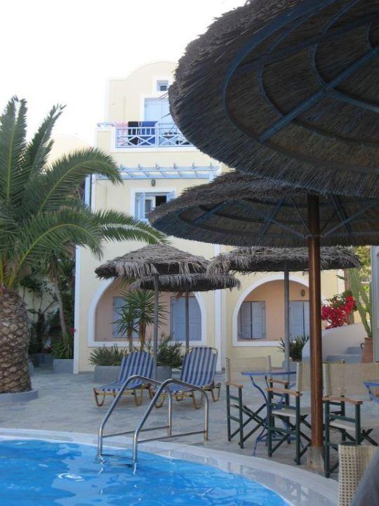 Blick von der Poolbar Hotel Zephyros