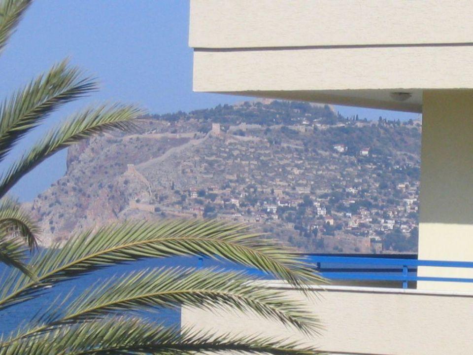 Aussicht vom Balkon auf Alanya Katya Hotel