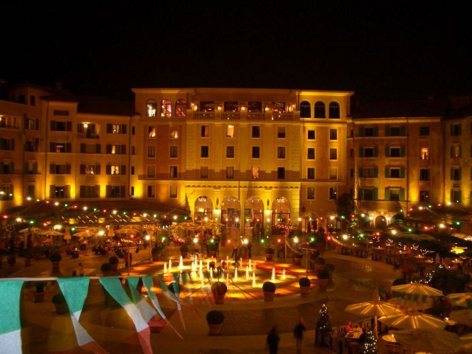 Piazza bei nacht hotel colosseo europa park in rust - Hotel colosseo europa park ...
