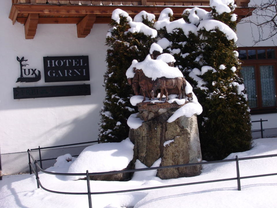 Unser Brunnen im Winter Ferienhaus Fux