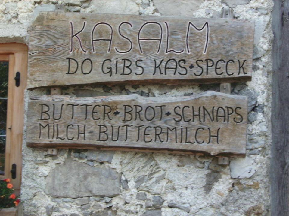 Eingang zum Verkauf  Gramai Alm alpengenuss & natur spa
