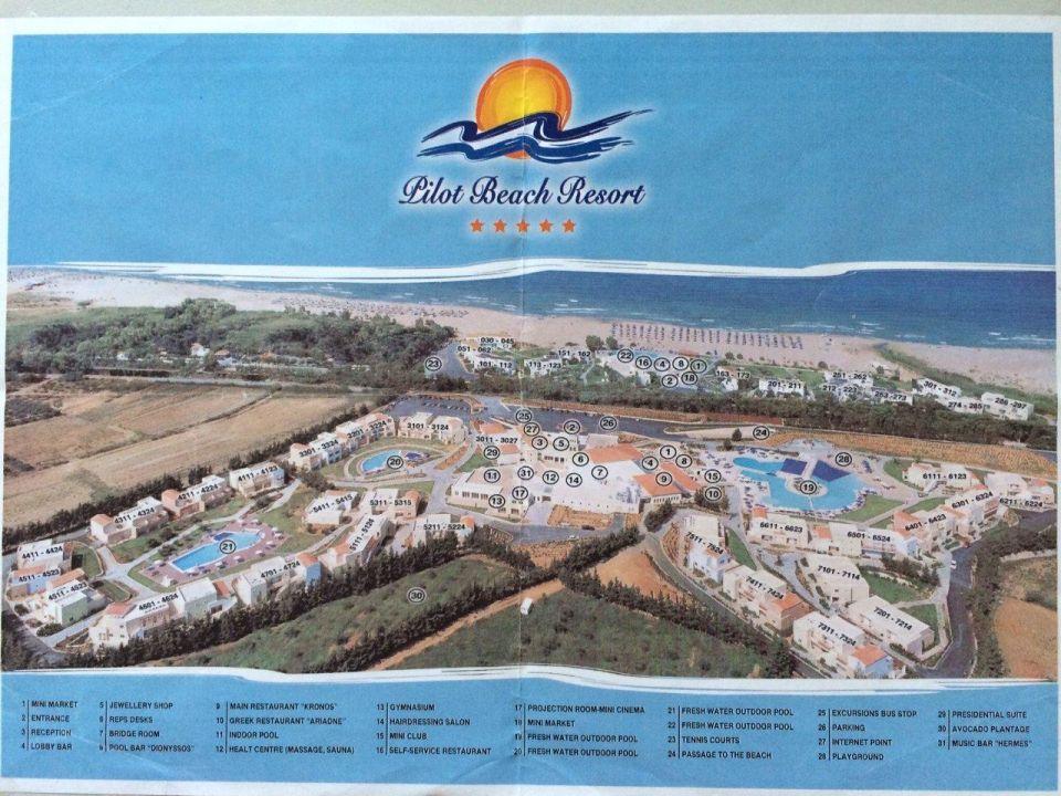 bersichtsplan Pilot Beach Resort Hotel Pilot Beach