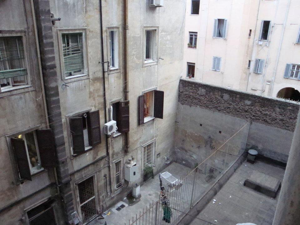 Ausblick aus dem Fenster Hotel Morgana