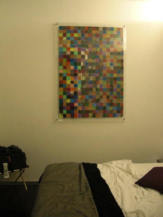 Bild an der Wand neben dem Bett Hotel Ariston