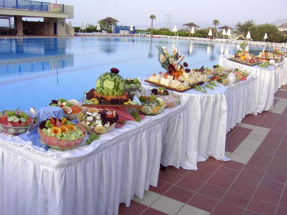 Buffet beim Griechischen Abend Hotel Imperial Belvedere