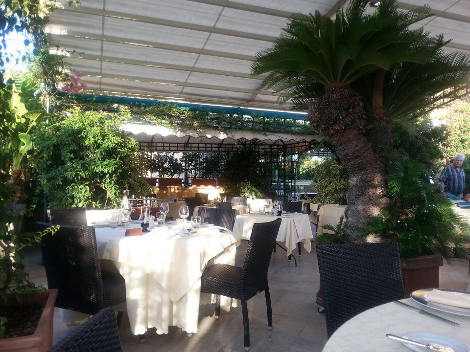 Restaurant auf der Dachterrasse Hotel Victoria Roma