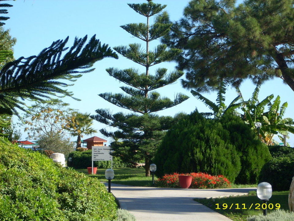 Der Hotelgarten Kilikya Palace Göynük