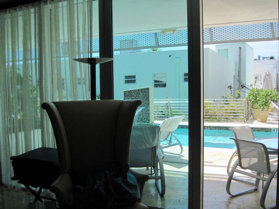 Zugang zur Terrasse und Pool Hotel Z Ocean South Beach – Crowne Plaza