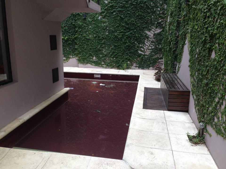 Der Pool - nicht wirklich zum Schwimmen Las Cepas Hotel de Cata & Relax