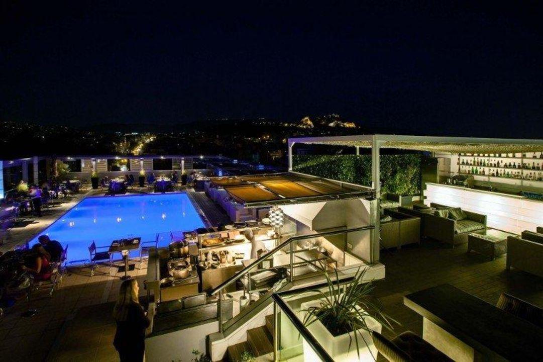 Roof Garden Swimming Pool Radisson Blu Park Hotel Athen