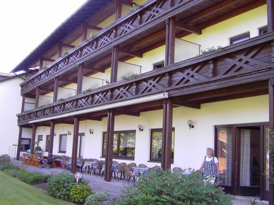Rückansicht  Hotel Falter Poschetsried