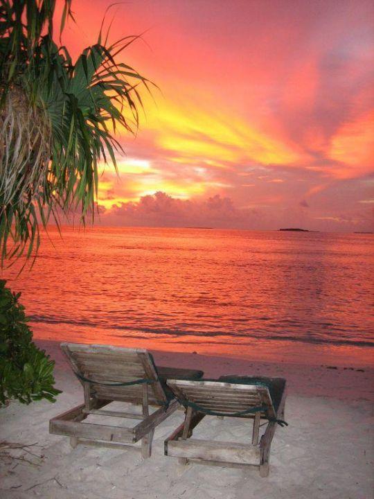 Sonnenuntergang Hotel Reethi Beach Resort
