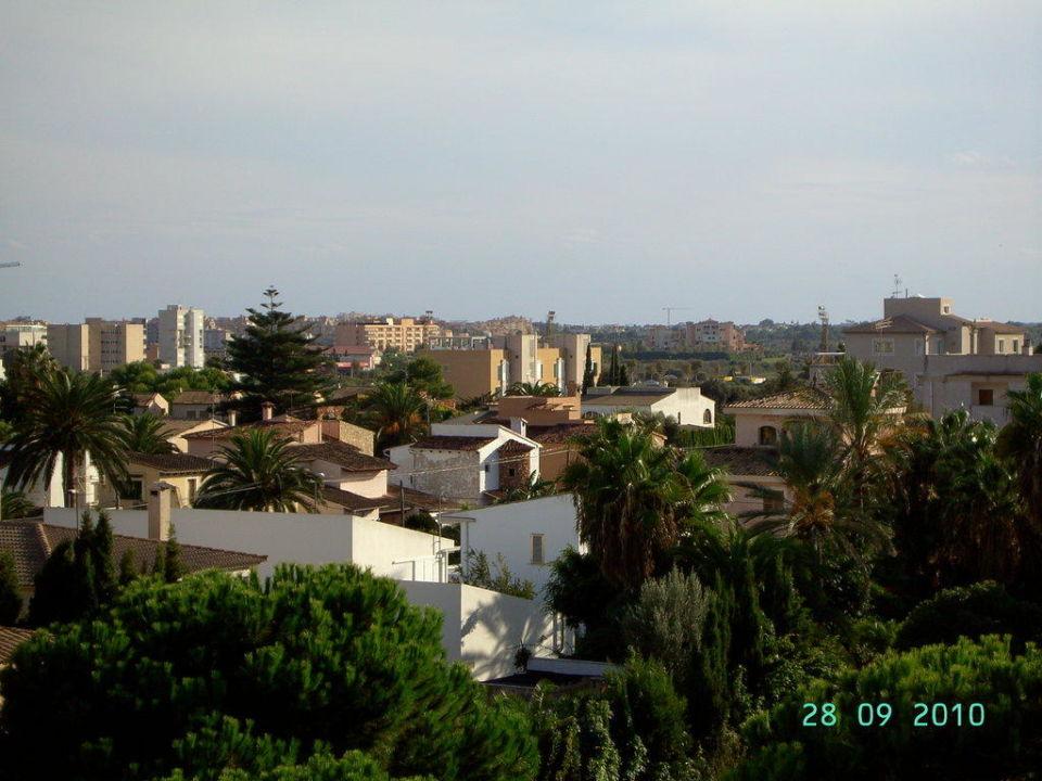 Ausblick vom Haupthaus Aparthotel Tropicana & Trebol