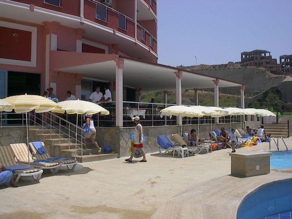 Blick vom Pool auf Hotel My Home Sky Hotel