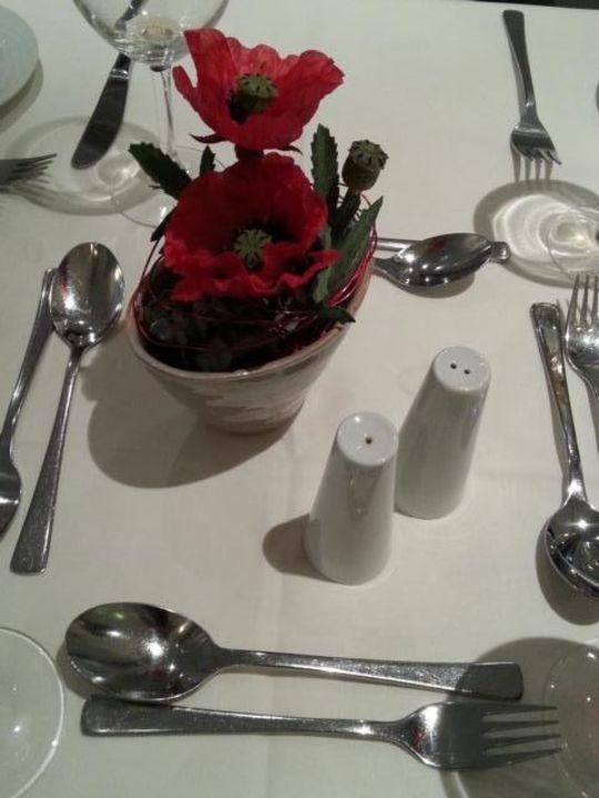 Garten Restaurant Tischdeko Hotel Arvena Reichsstadt Bad
