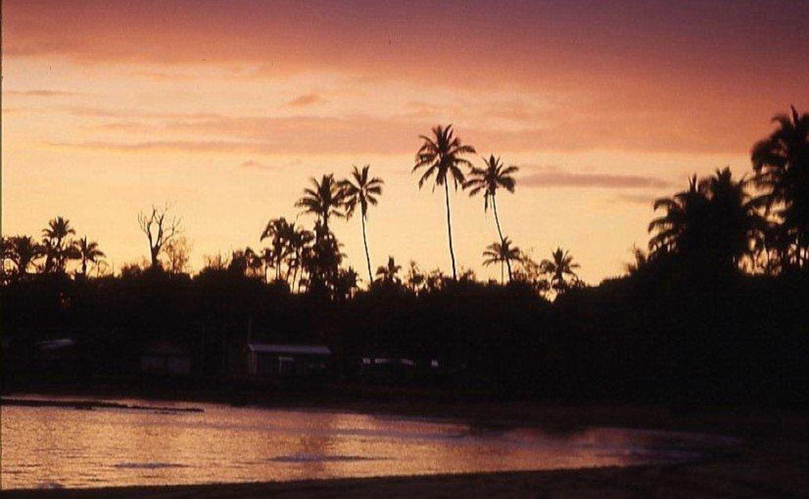 Abendstimmung auf Fidschi Hotel Naviti Resort
