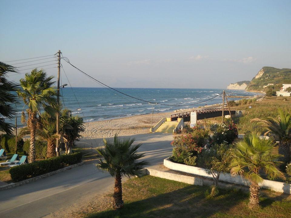 Richtung Nord-Ost nahe dem Ortsende Hotel Beach Star