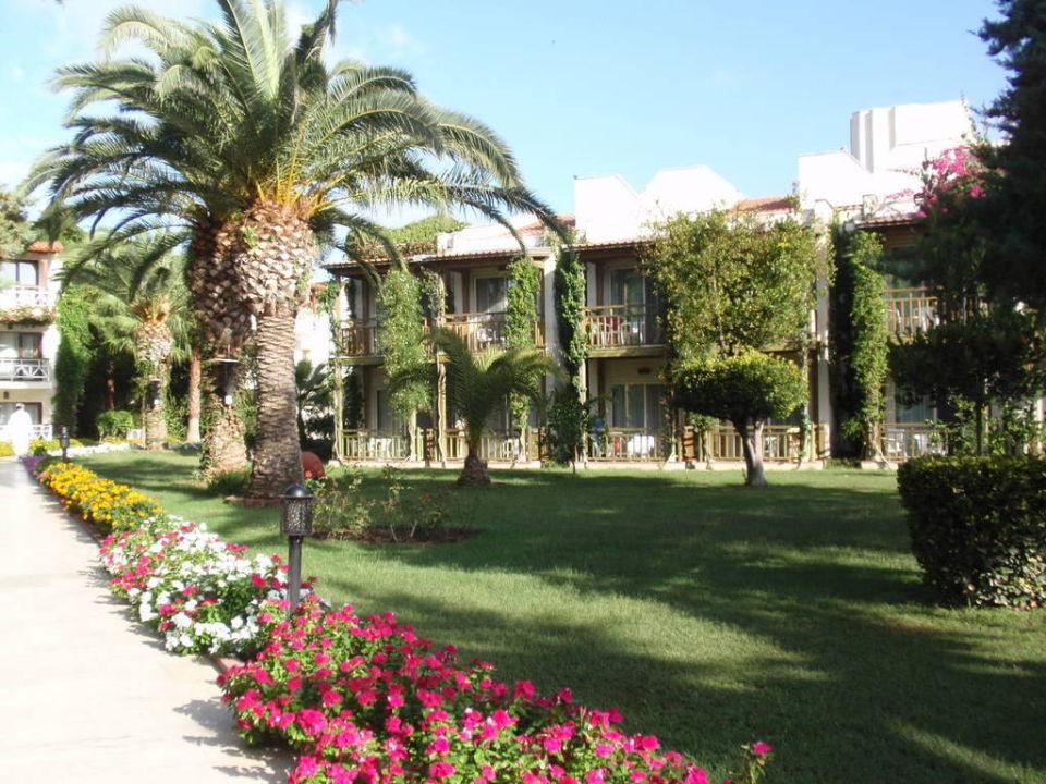 Schön bepflanzte Gartenanlage Paloma Oceana Resort