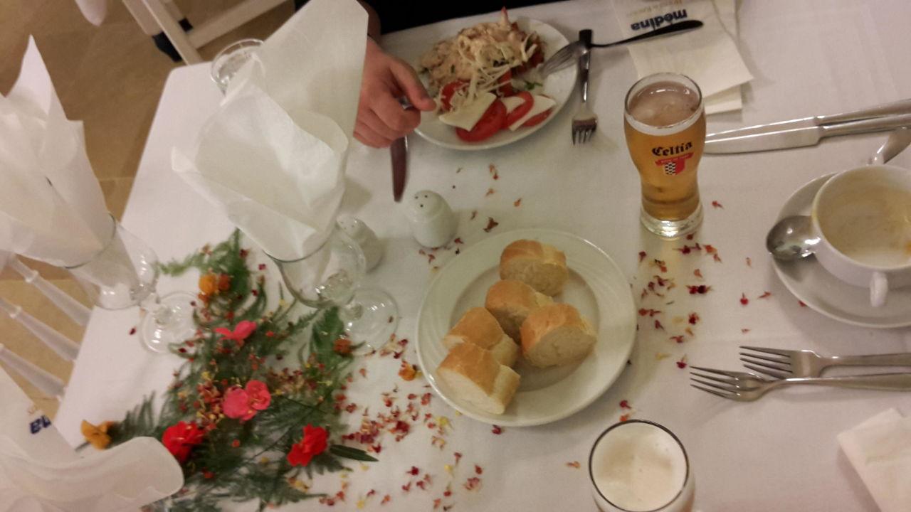 Tischdeko Beim Abendessen Hotel Residence Diar Lemdina Hammamet