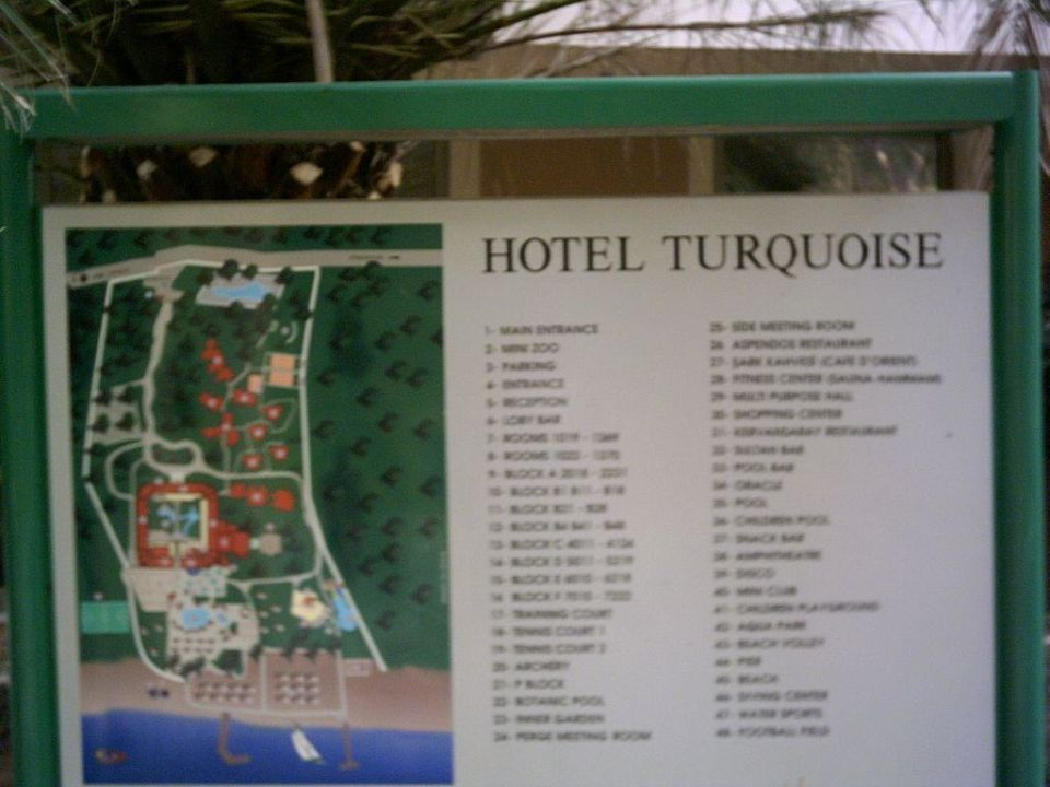 Hotelplan des Hotels Turquoise Turquoise Hotel