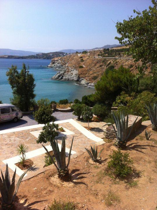 Blick zum Meer Hotel Aneroussa Beach