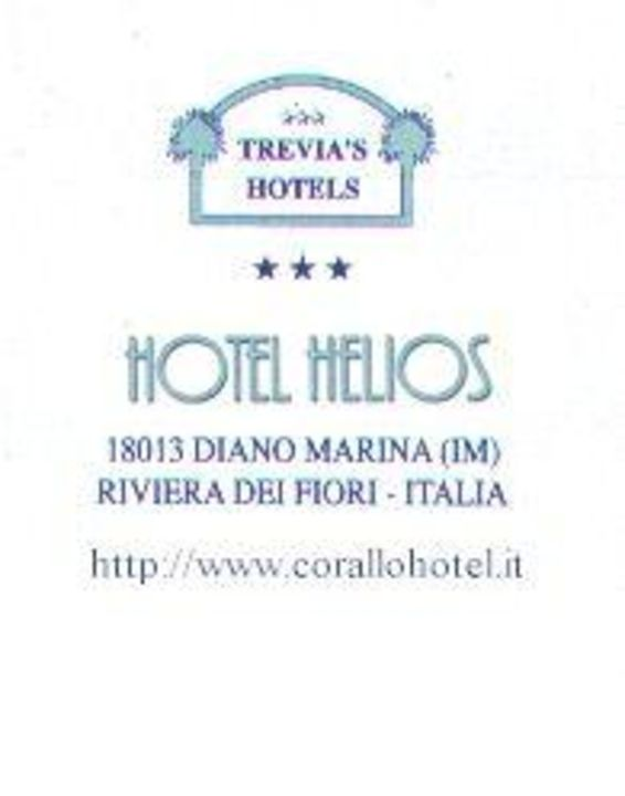 Hotel Helios. Diano Marina. Italien. Badeort.  Hotel Helios