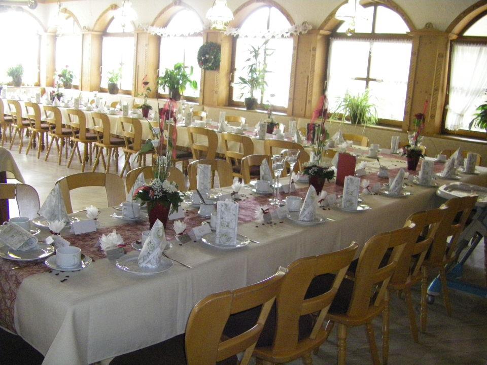Gedeckter Tisch Hotel Restaurant Goger