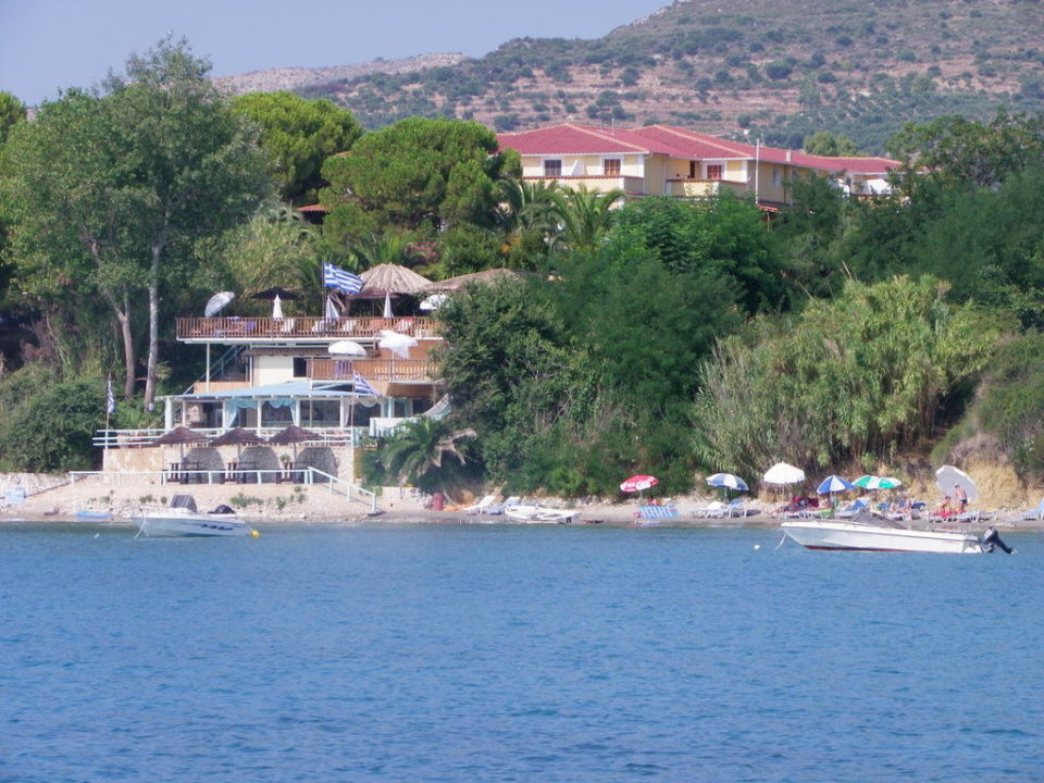 View of the hotel from the sea Porto Koukla Beach Hotel