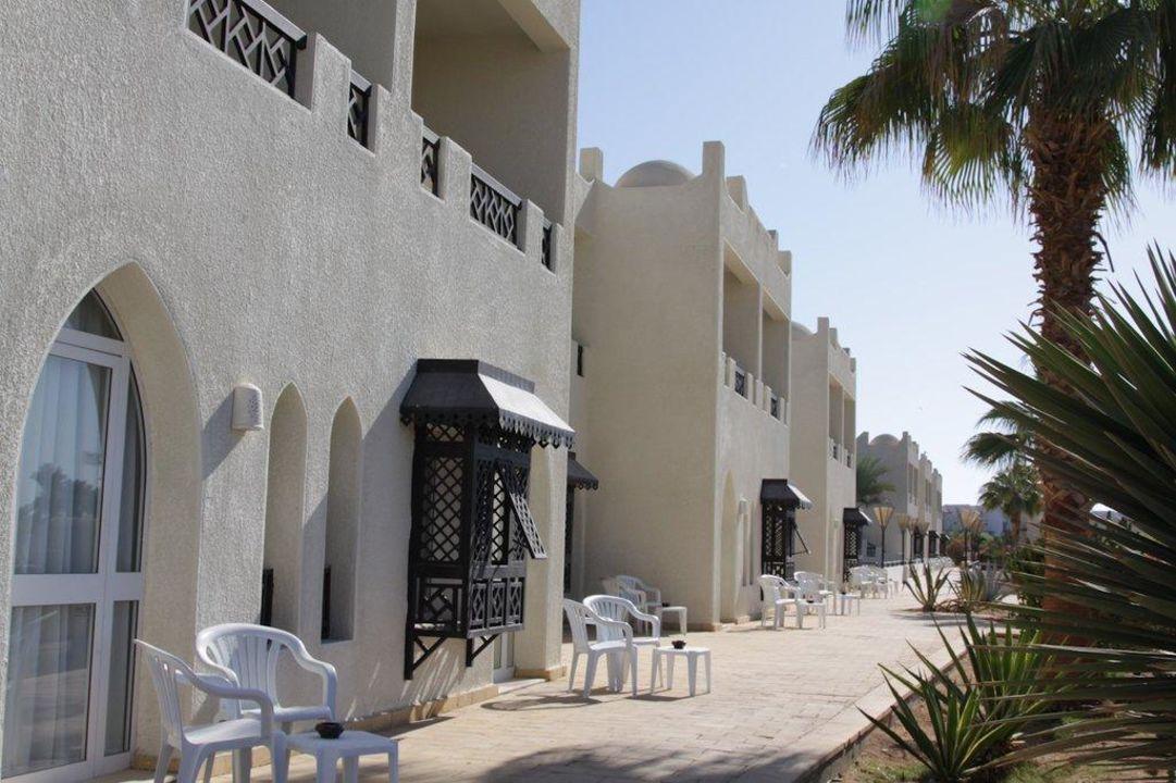 Blick auf die 200er-Zimmer Hotel Reef Oasis Beach Resort