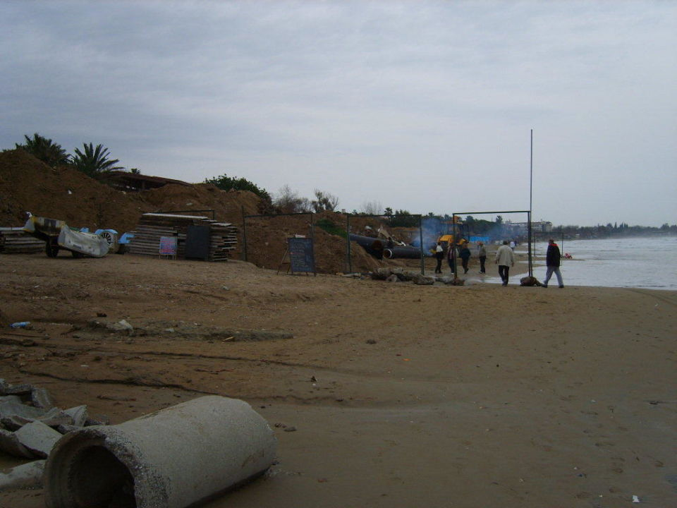 Bau der Strandpromenade bis Side Zentrum Hotel Side Star Elegance