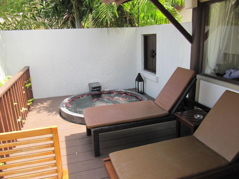 Terrasse Mit Jacuzzi Centara Villas Samui Laem Set Beach