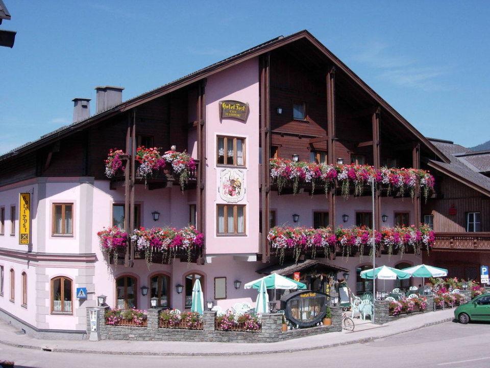 Fassade Sommer Hotel Post Bad Mitterndorf
