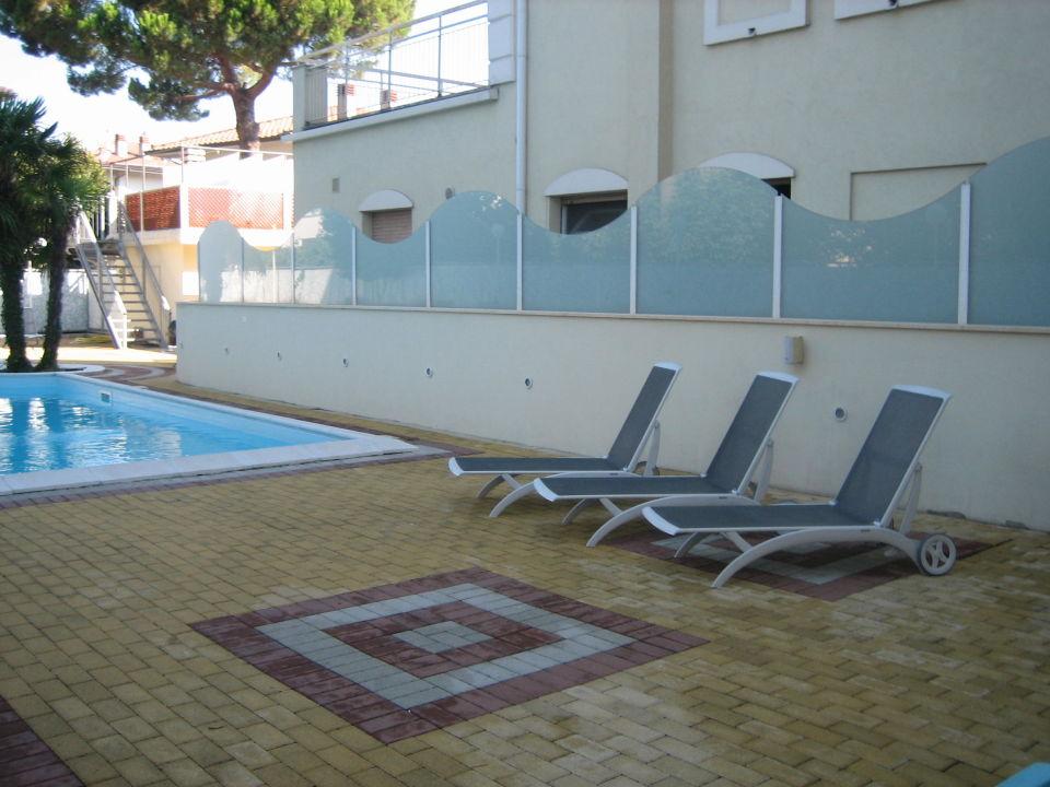 Pool Ausblick  Hotel San Carlo Vacanze