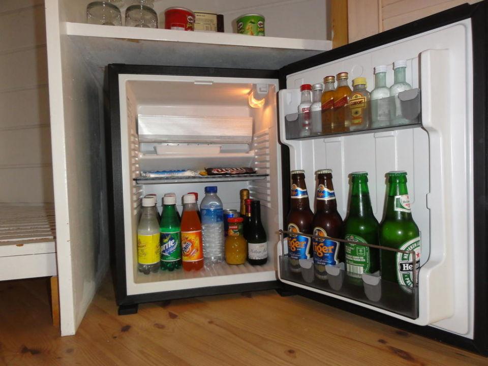 Minibar Kühlschrank : Mini kühlschrank voller flaschen saft soda und obst isoliert auf