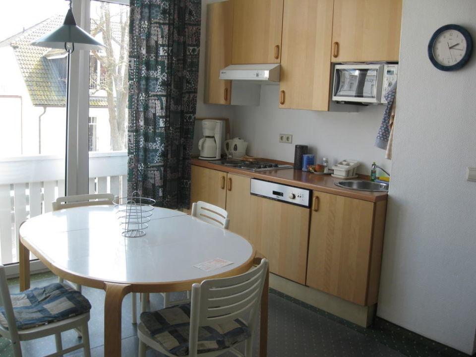 Teil Des Wohnzimmeressecke Mit Küchenzeile Haus Felicitas Binz
