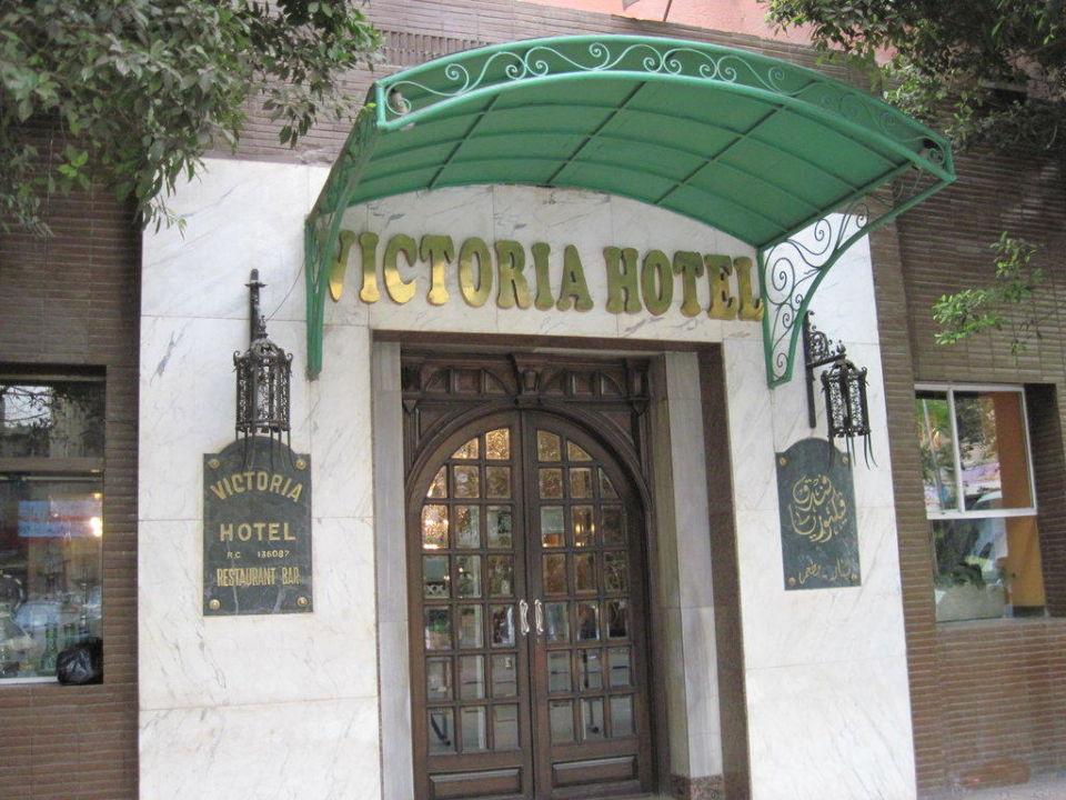Gemütlicher Haupteingang Hotel Victoria