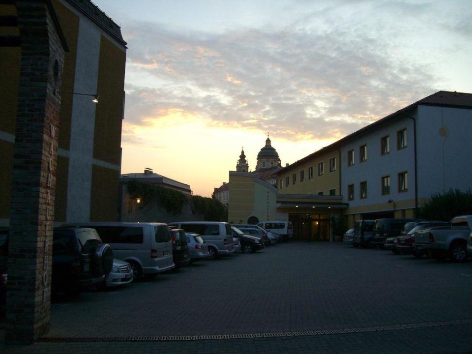Parkplatz vom Hotel Wachauerhof Hotel Wachauerhof