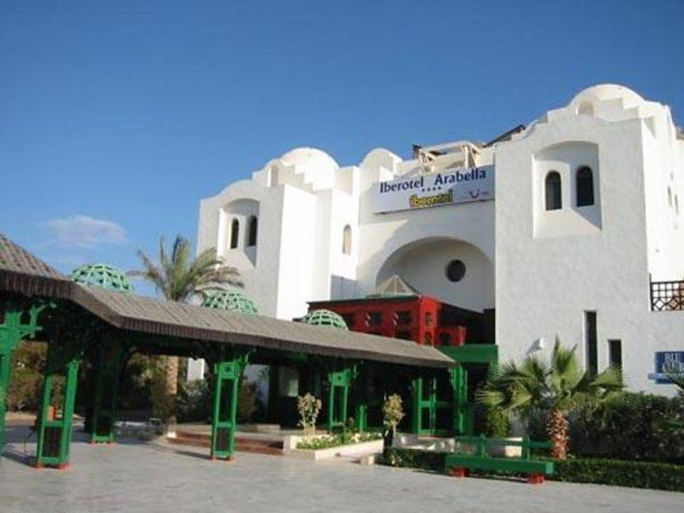 Der Eingang des Iberotel Arabella Arabella Azur Resort