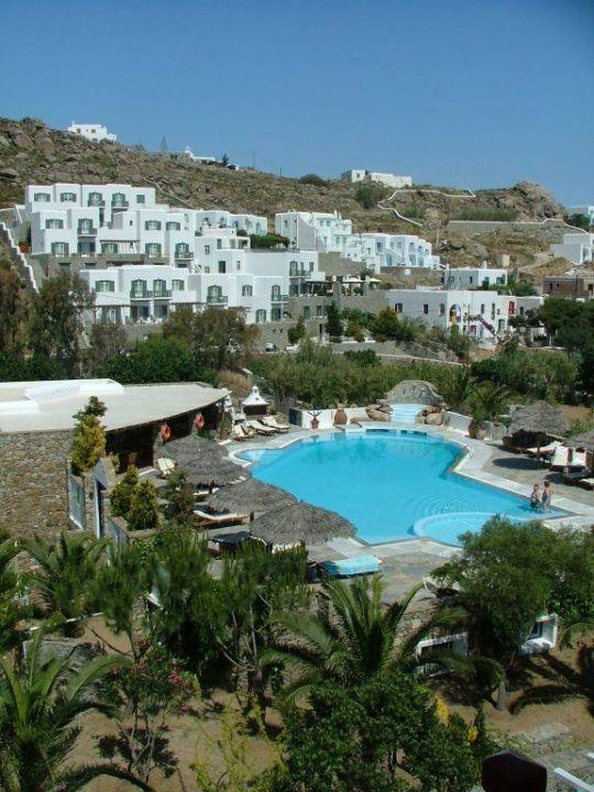 Ausblick vom Zimmer Kamari Hotel