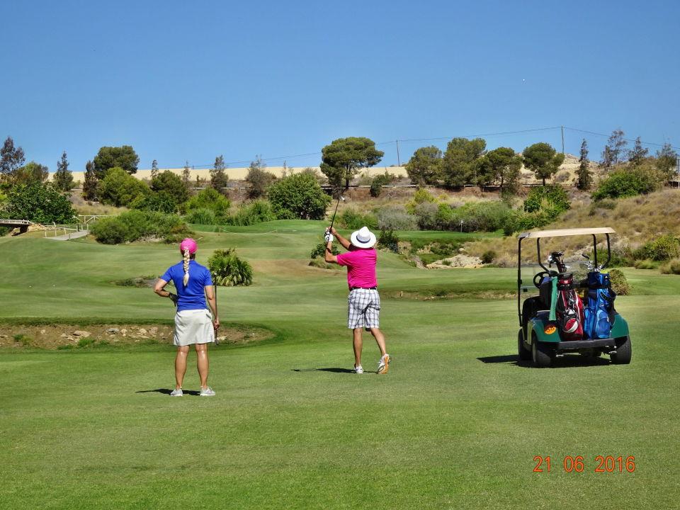 Loch 4, ein Par 5 Hotel Valle del Este Golf Spa