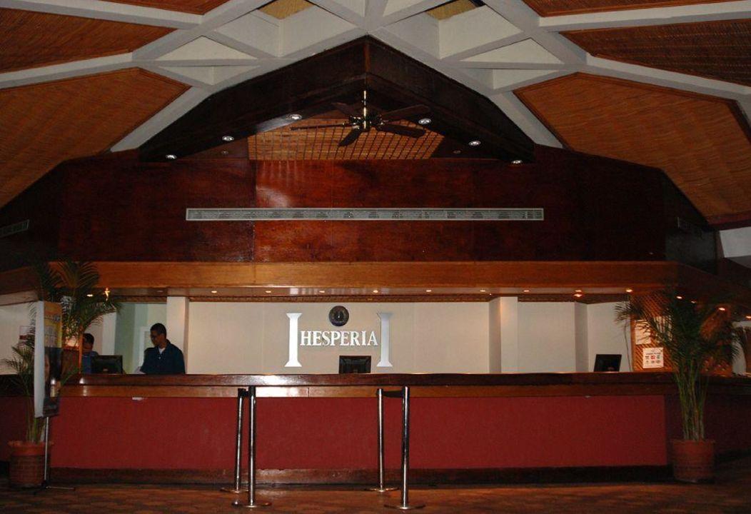 Recepcja Hotel Hesperia Playa el Aqua Beach