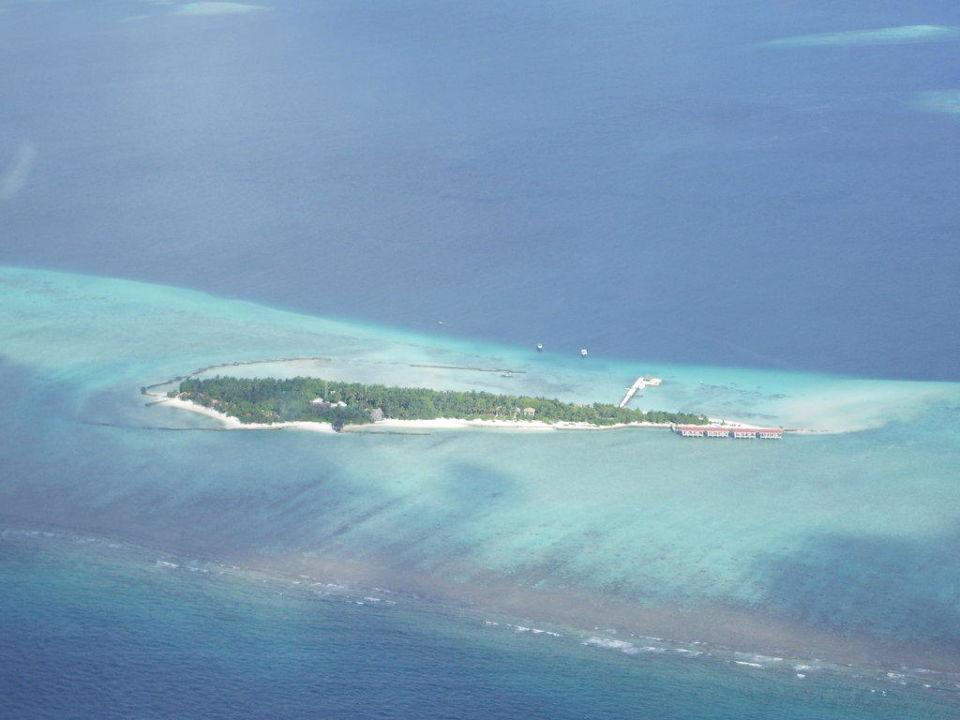 Aussicht vom Wasserflugzeug Adaaran Select Meedhupparu Island Resort