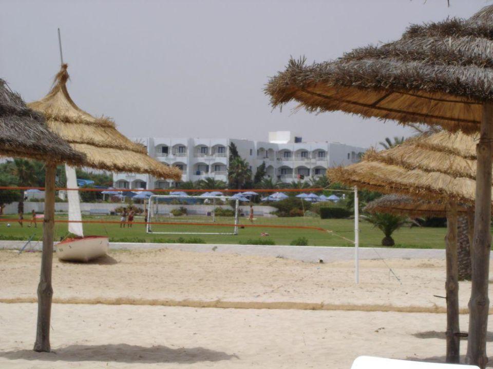 Hotel vom Strand aus SplashWorld Venus Beach