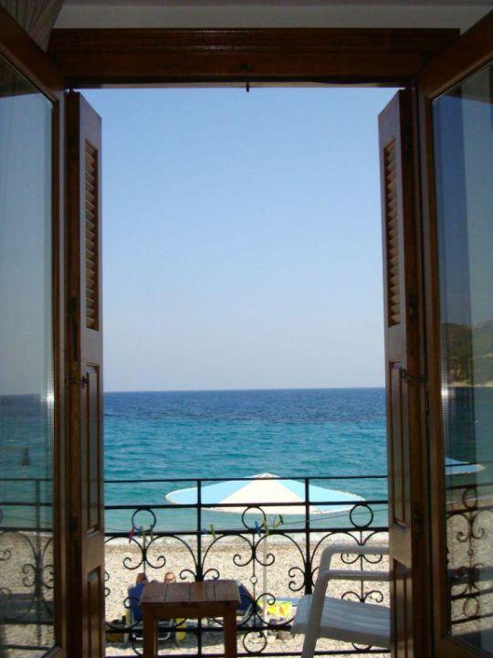 Blick aus dem Zimmer Hotel Olympia Beach